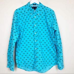 Tommy Hilfiger   Elephants Print Button Up